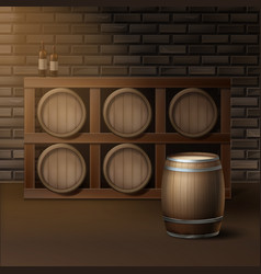 Barrels for wine vector