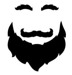Beard mustache eyebrows vector