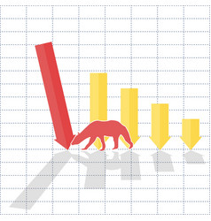 Bearl trend on stock market vector
