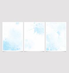 beautiful navy blue watercolor wet wash splash vector image