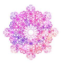 beautiful vintage round pattern vector image