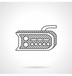 Bike dashboard line icon vector image