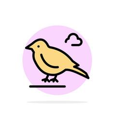 Bird british small sparrow abstract circle vector