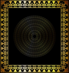 Black and gold abstract cirles vector