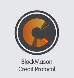 blockmason credit protocol - cryptographic vector image