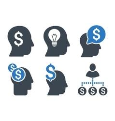 Businessman Idea Flat Icons vector image