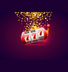 casino winner banner signboard on background vector image