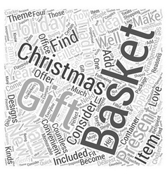 Christmas gift baskets Word Cloud Concept vector