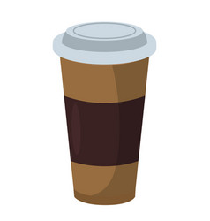 coffee cup icon fastfood isolated sweet food and vector image