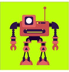 Cute flat robot vector