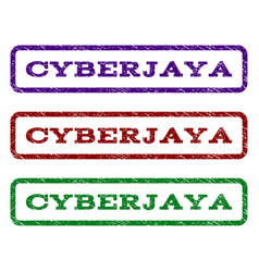 Cyberjaya watermark stamp vector