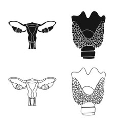 Design of body and human sign set of body vector