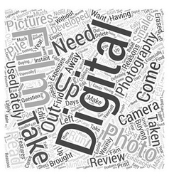 digital photography review Word Cloud Concept vector image
