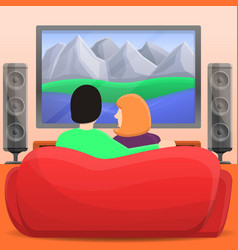 family home movie concept background cartoon vector image