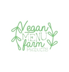 Farm products calligraphic cafe board vector