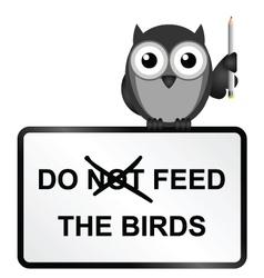 Feed Birds vector image