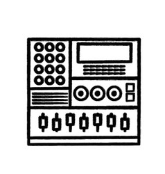 Figure electronic audio console to play music vector