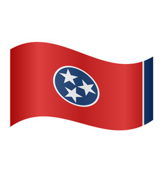 Flag of tennessee waving on white background vector