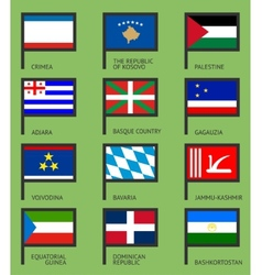 Flags flat set-18 vector