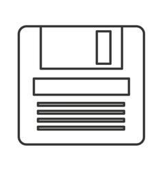 Floppy data storage isolated icon vector