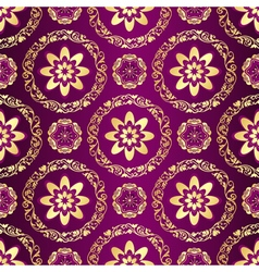 Floral purple seamless pattern vector
