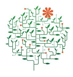 flowers on tree vector image