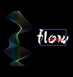 fluid colorful texture on dark background flow vector image