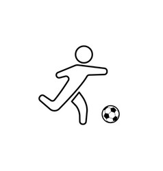 Football soccer player silhouette with ball vector