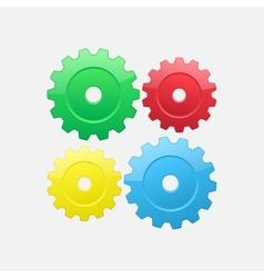 Four gears vector
