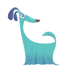 Furry and funny purebred doggy cartoon vector