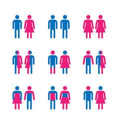 gender symbol set vector image
