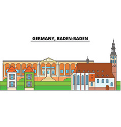 germany baden baden city skyline architecture vector image