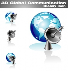 global communication icon vector image