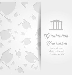 Graduation card with classic building vector