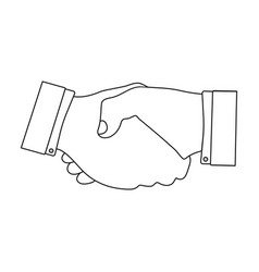 Handshake e-commerce single icon in outline style vector
