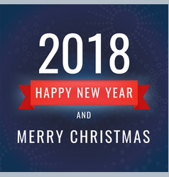happy new year 2018 on dark vector image