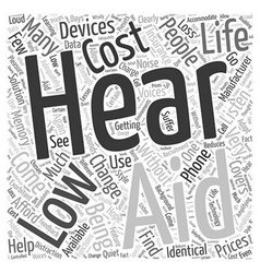 How Low Cost Hearing Aids Can Change Your Life vector image