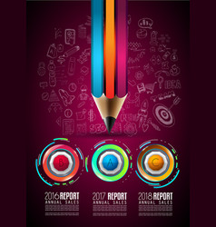Infograph template with multiple choices vector