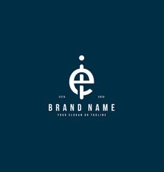 Letter ei logo design vector