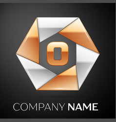 Letter o logo symbol in the colorful hexagon on vector