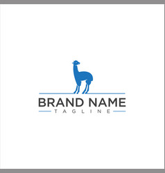 Llama logo design stock vector
