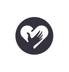 Love logo icon modern simple design minimalist vector