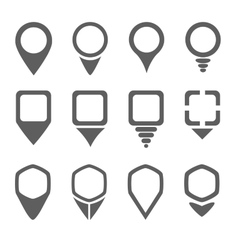 Map pointers icons vector