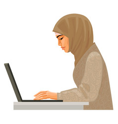 Muslim business woman in traditional clothing vector