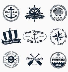 Nautical labels vector