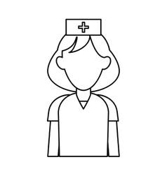 nurse uniform hat cross attention healthcare vector image