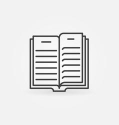 open book outline icon - book concept vector image