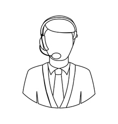 Operator with headset icon image vector