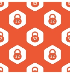 Orange hexagon dumbbell pattern vector