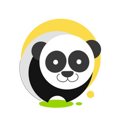 panda icon for graphic design vector image
